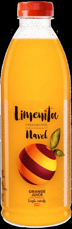 Navel orange juice with bits